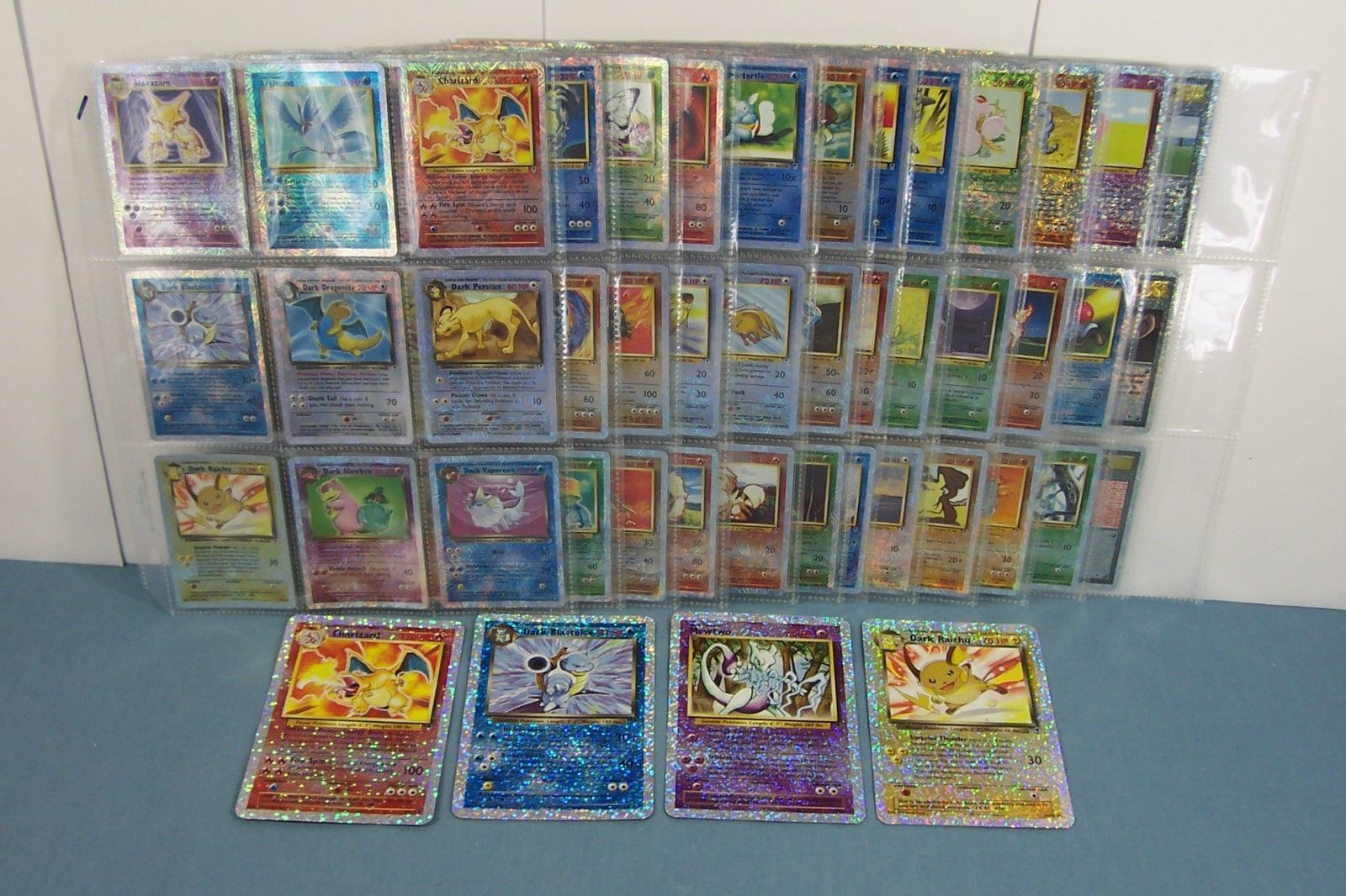 CARDS INCLUDING HOLOS RARES REVERSE COMMON UNCOMMON POKEMON COLLECTION LOT 1000