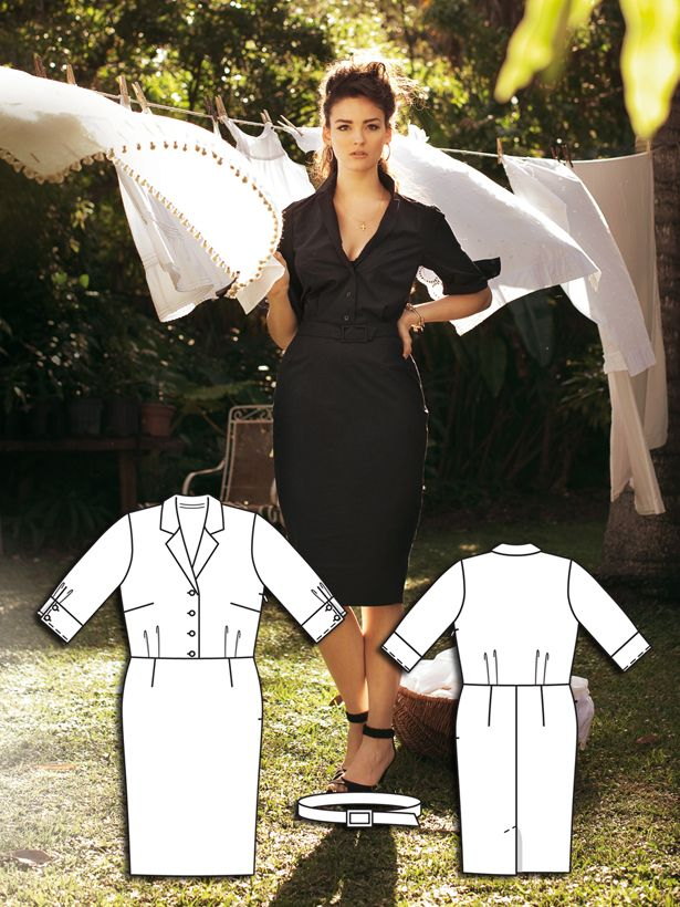 Screen Siren: 8 Sexy Plus Size Sewing Patterns | Faden, Nadel und ...