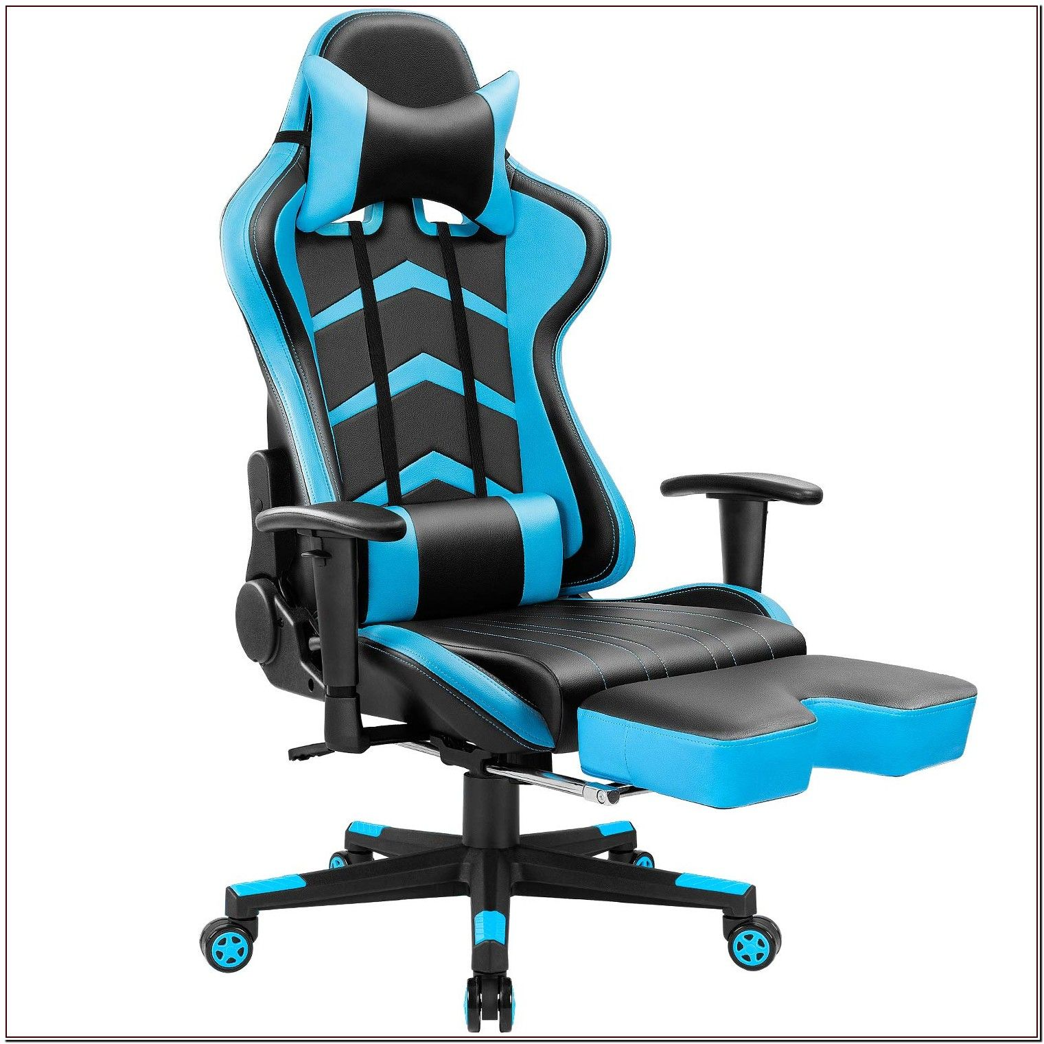 79 Reference Of Blue Swivel Chair With Footrest Gaming Chair Racing Chair Chair