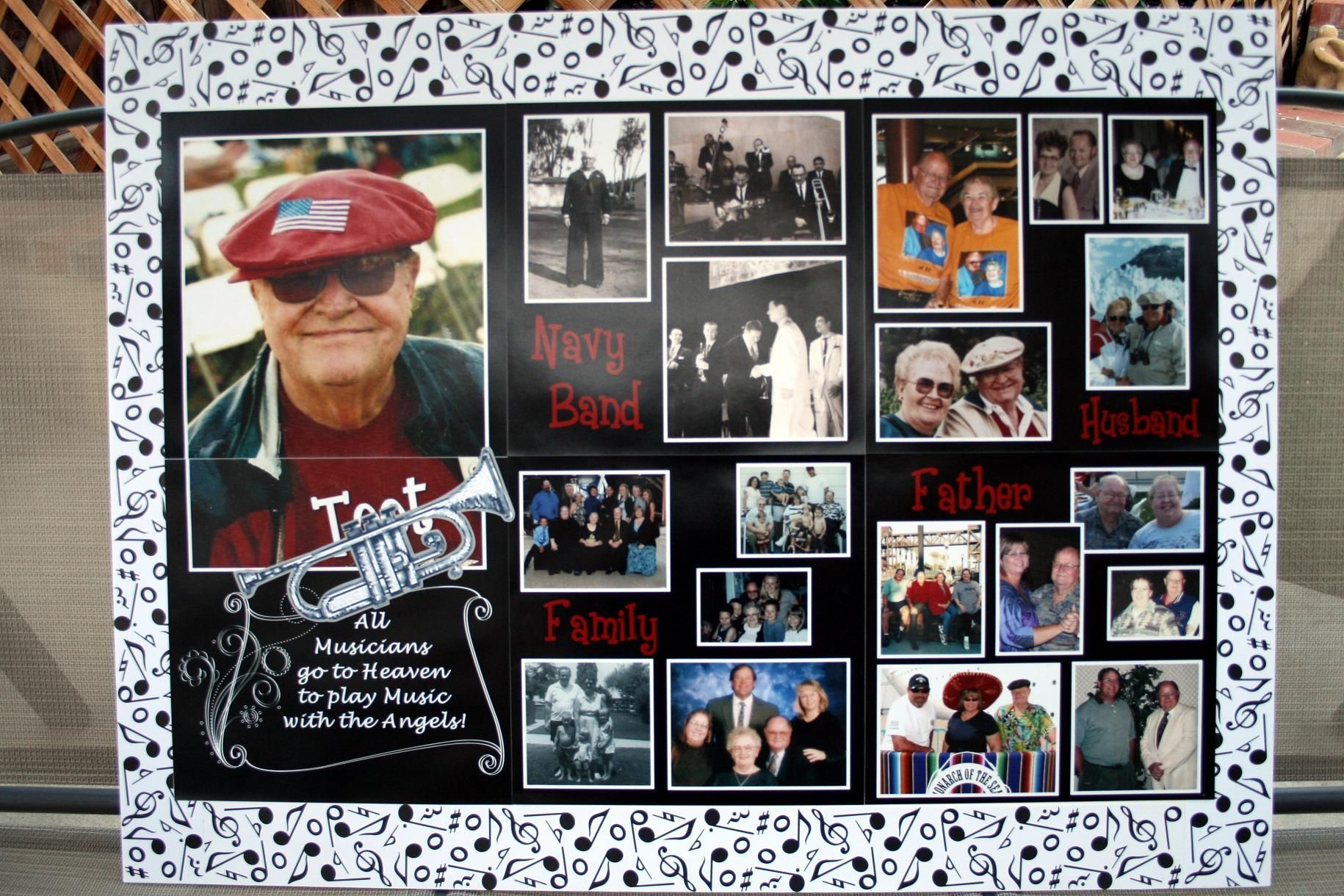Poster Board Ideas For Funerals : Funeral picture display ideas sue shared the following