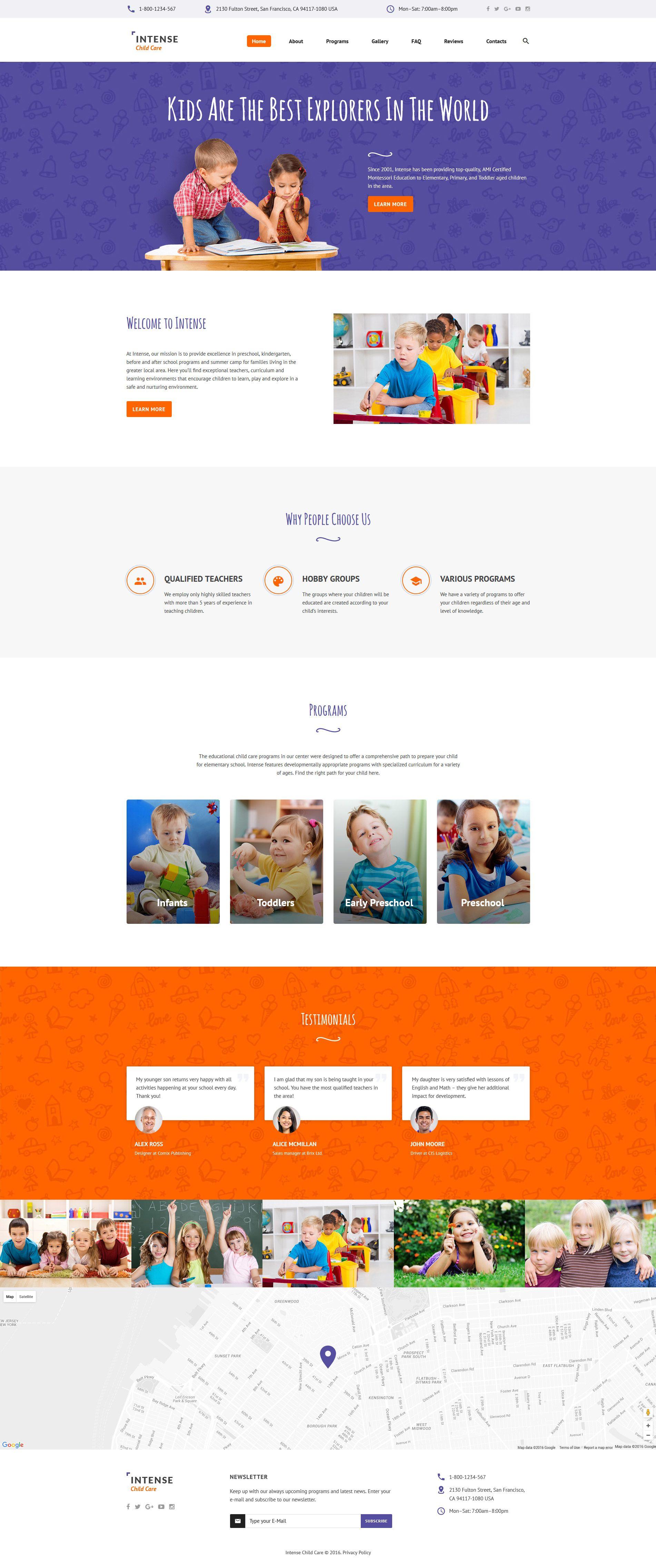Child Care Website Template Templatemonster