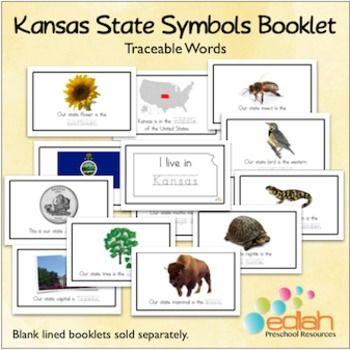 Kansas State Symbols Booklet Kansas Kindergarten And Curriculum
