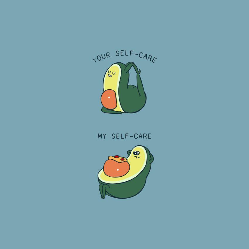 Self Care Avocado Art Print By Huebucket X Small Funny Cartoon Drawings Avocado Art Avocado Cartoon Cartoon cute avocado wallpapers