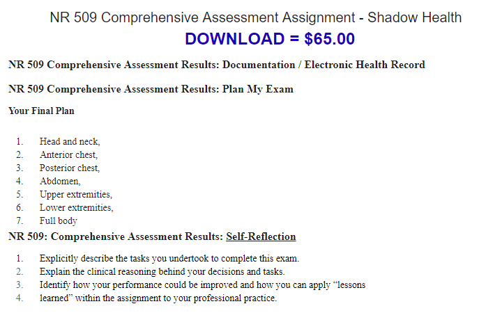 Shadow Health Abdominal Assessment | Healthy HesongBai