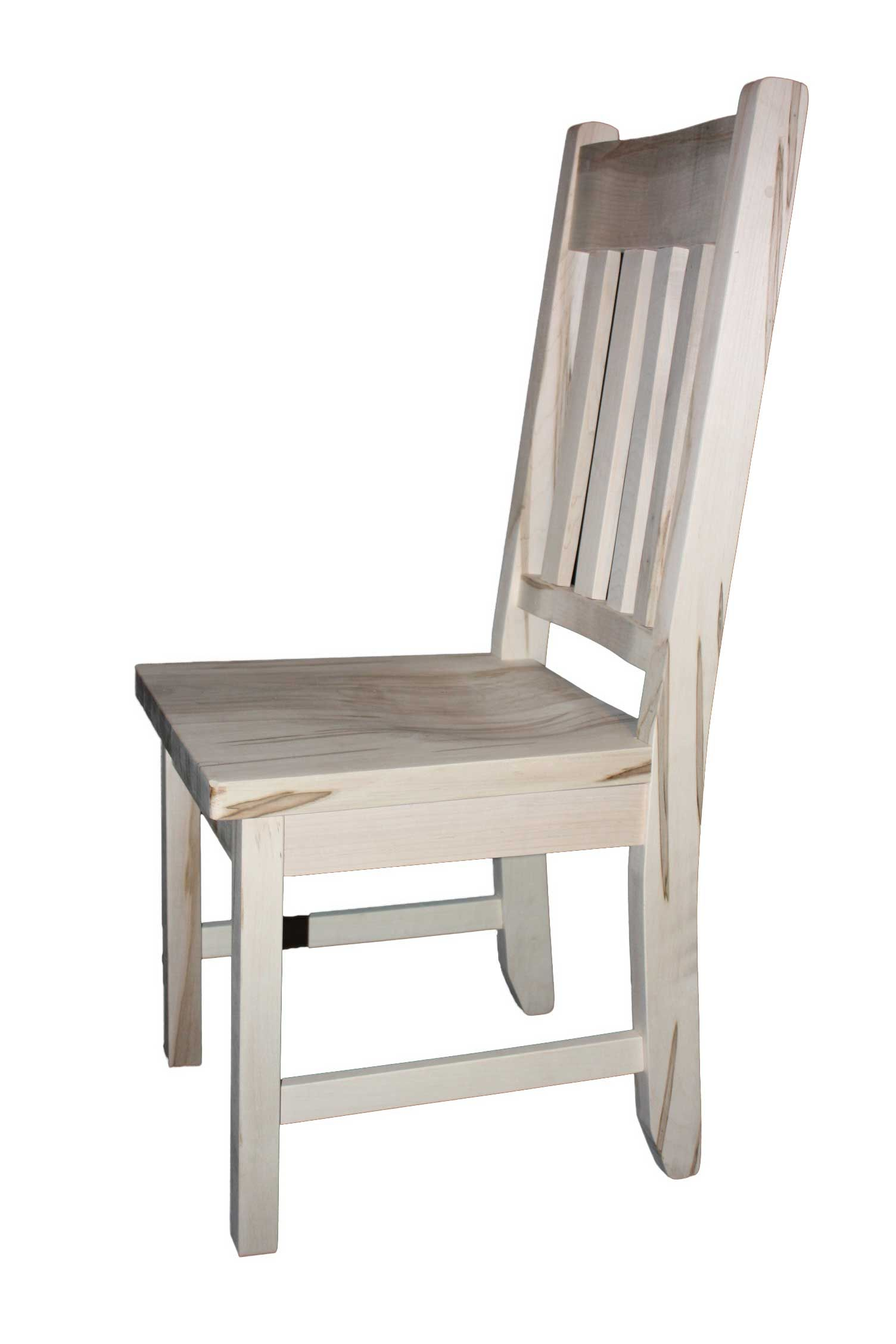 Mennonite Handcrafted Heavy Slat Back Dining Chair Kit With