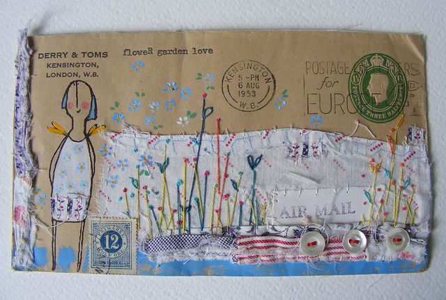 envelope artwork, now off to Australia by hens teeth, via Flickr