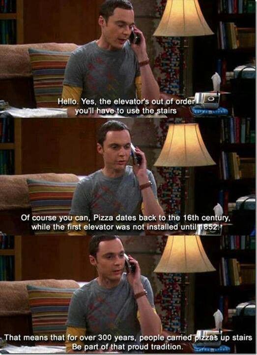 The Big Bang theory....lol...gotta love Sheldon