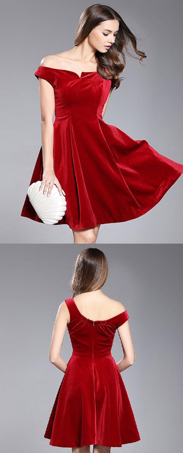 Aline offtheshoulder shortmini short satin homecoming dress
