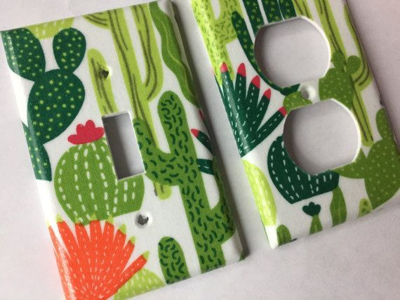 Succulent Decor, Single Light Switch Cover, Succulent Gift, Echeveria, Cactus Decor, Cactus Wall Art, Cactus Gift, Southwest Decor, Green