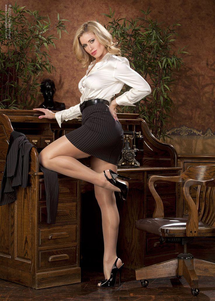 Sekretarin in strumpfhose