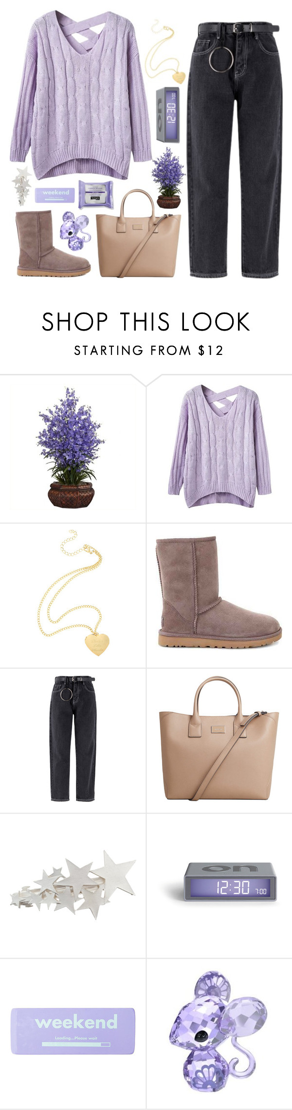 """""""Just Cause I Said It Don't Mean I Meant It"""" by sugarplumfairy98 ❤ liked on Polyvore featuring Nearly Natural, UGG, MANGO, claire's, Swarovski and spf98fashion"""