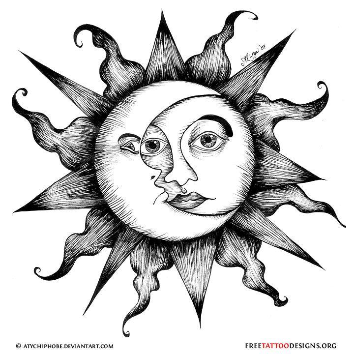 65 Sun Tattoos   Tribal Sun Tattoo Designs   DIY   Pinterest   Sol ...