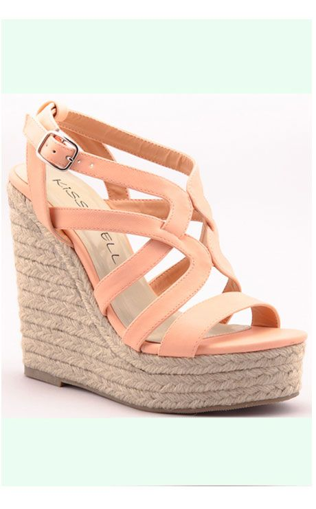 0601a6efdc9783 Peach Me I m Dreaming Wedge Shoe. One in every color!