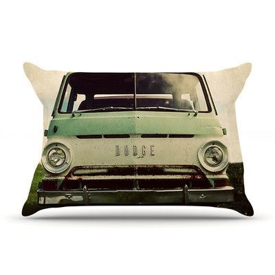 KESS InHouse Dodge by Angie Turner Featherweight Pillow Sham, Car