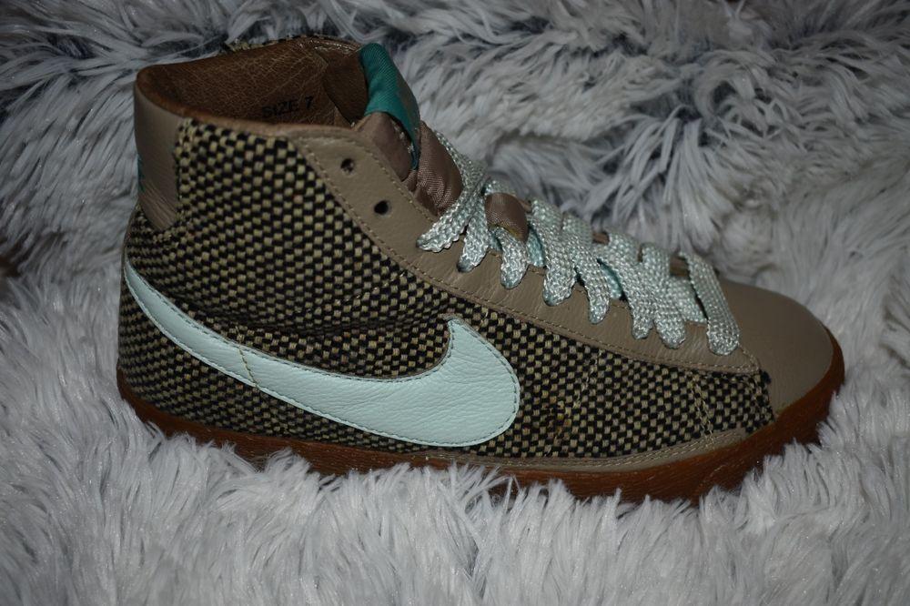 Nike Womens Blazer Mid 73 Premium Khaki Igloo Aloe Tweed