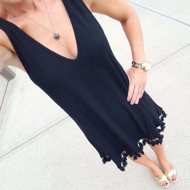 Wear It For Less: What I Wore: SheIn Tassel Dress