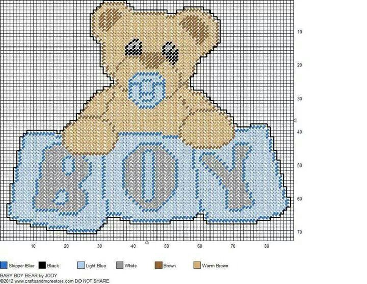 BABY BOY BEAR by JODY -- WALL HANGING