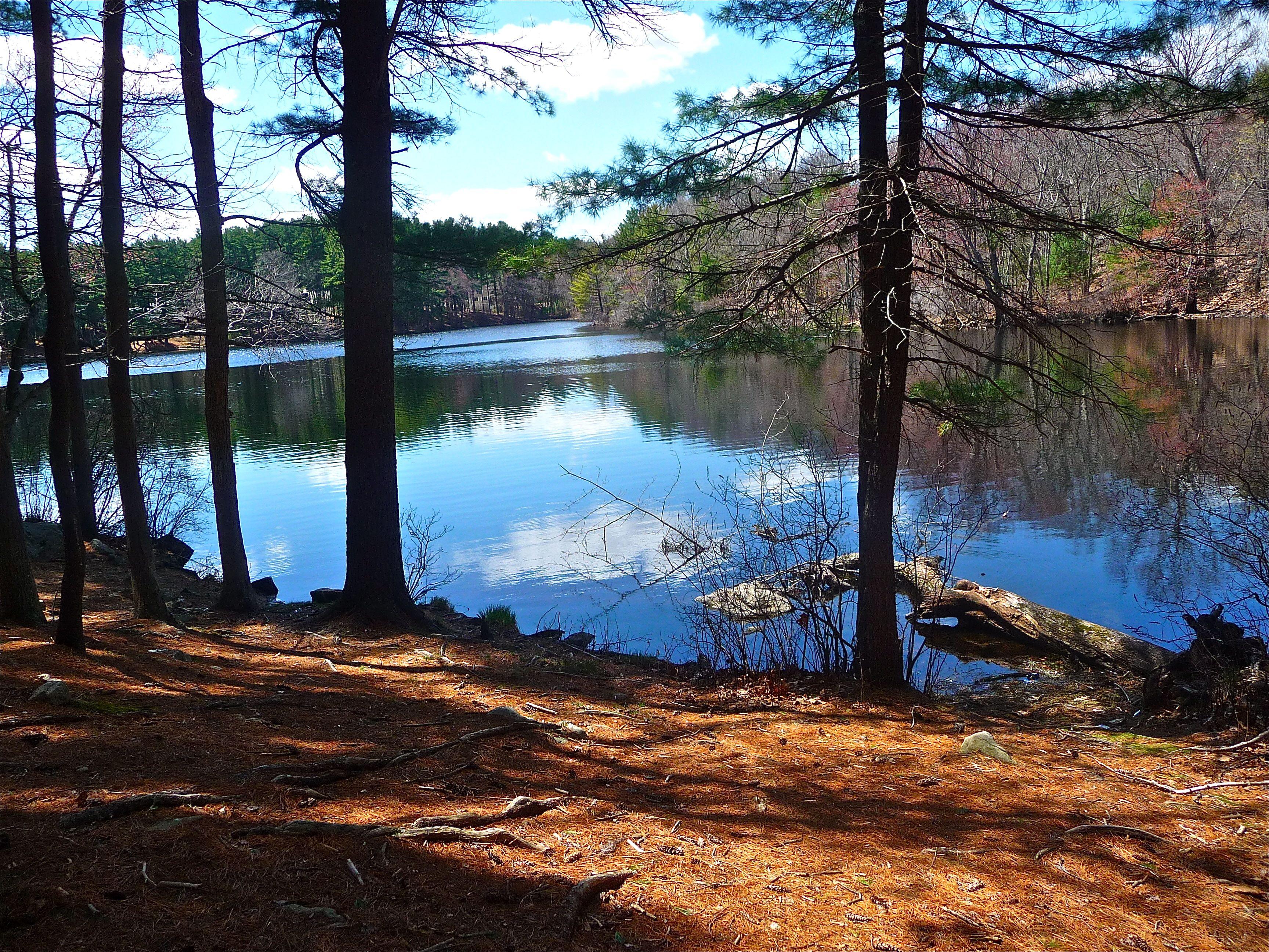 A New England spring day evolves at Highland Lake, Norfolk MA ...