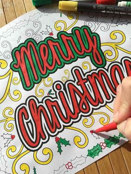 6700 Top Christmas Coloring Pages Middle School  Images