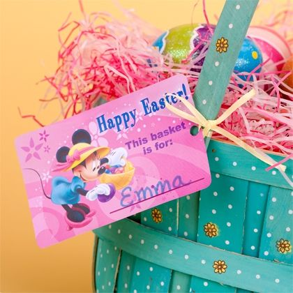 Mickey friends easter basket tags easter baskets easter and mickey friends easter basket tags negle Images