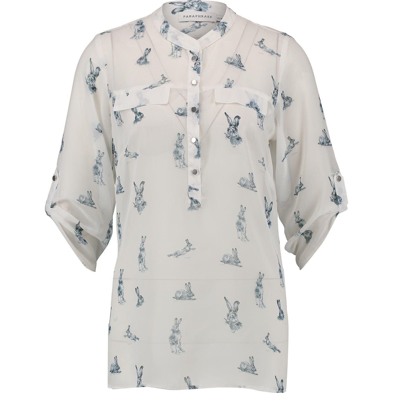 paraphrase white hare print blouse tk maxx b yoself. Black Bedroom Furniture Sets. Home Design Ideas