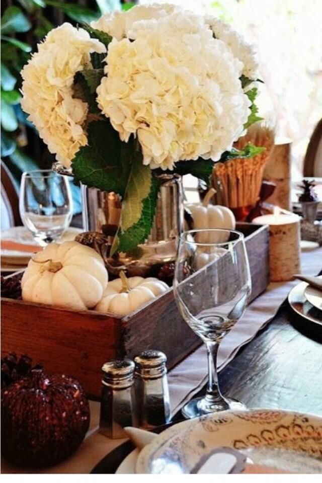 Thanksgiving table decor from my friend Patti Baldiviez