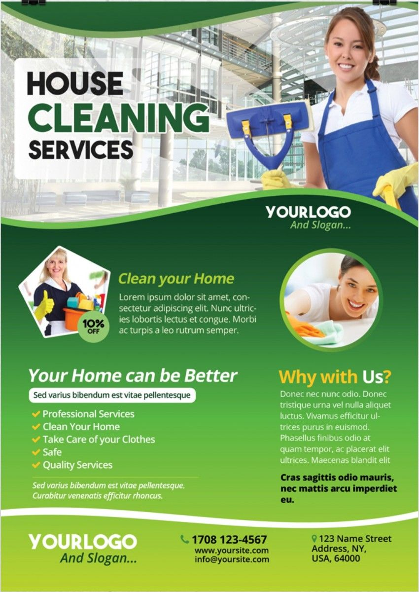 Cleaning Services  Download Free Psd Flyer Template  Xu Thnh