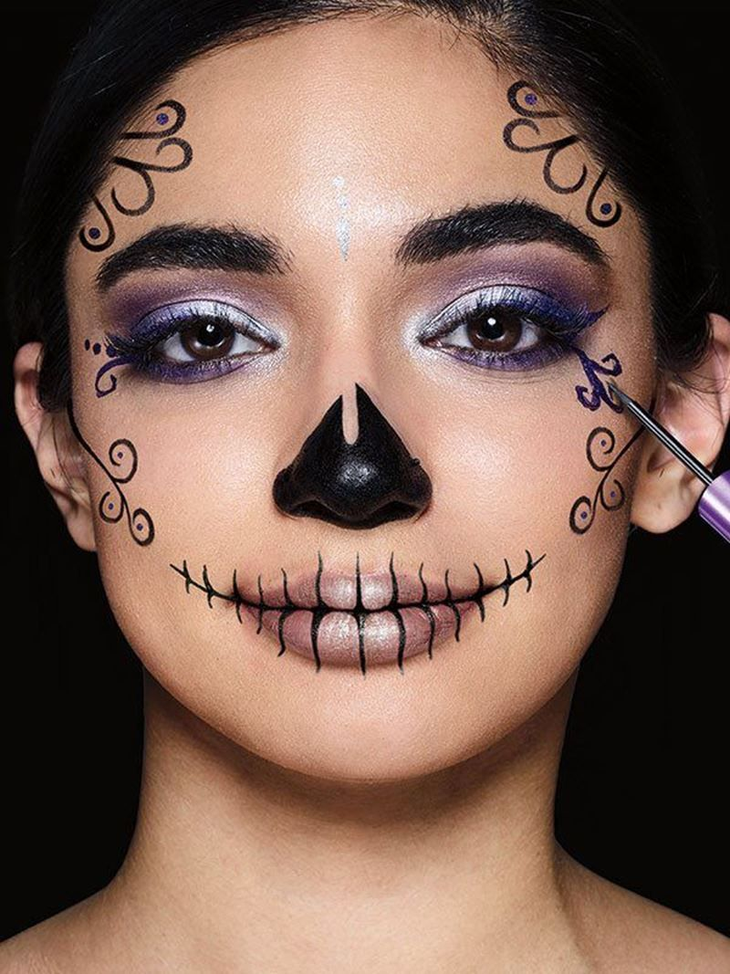 Sugar Skull Makeup Tutorial Halloween Makeup