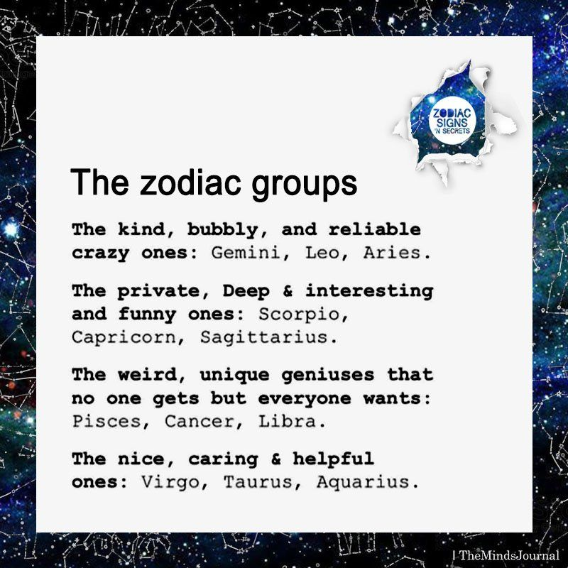The Zodiac Groups -