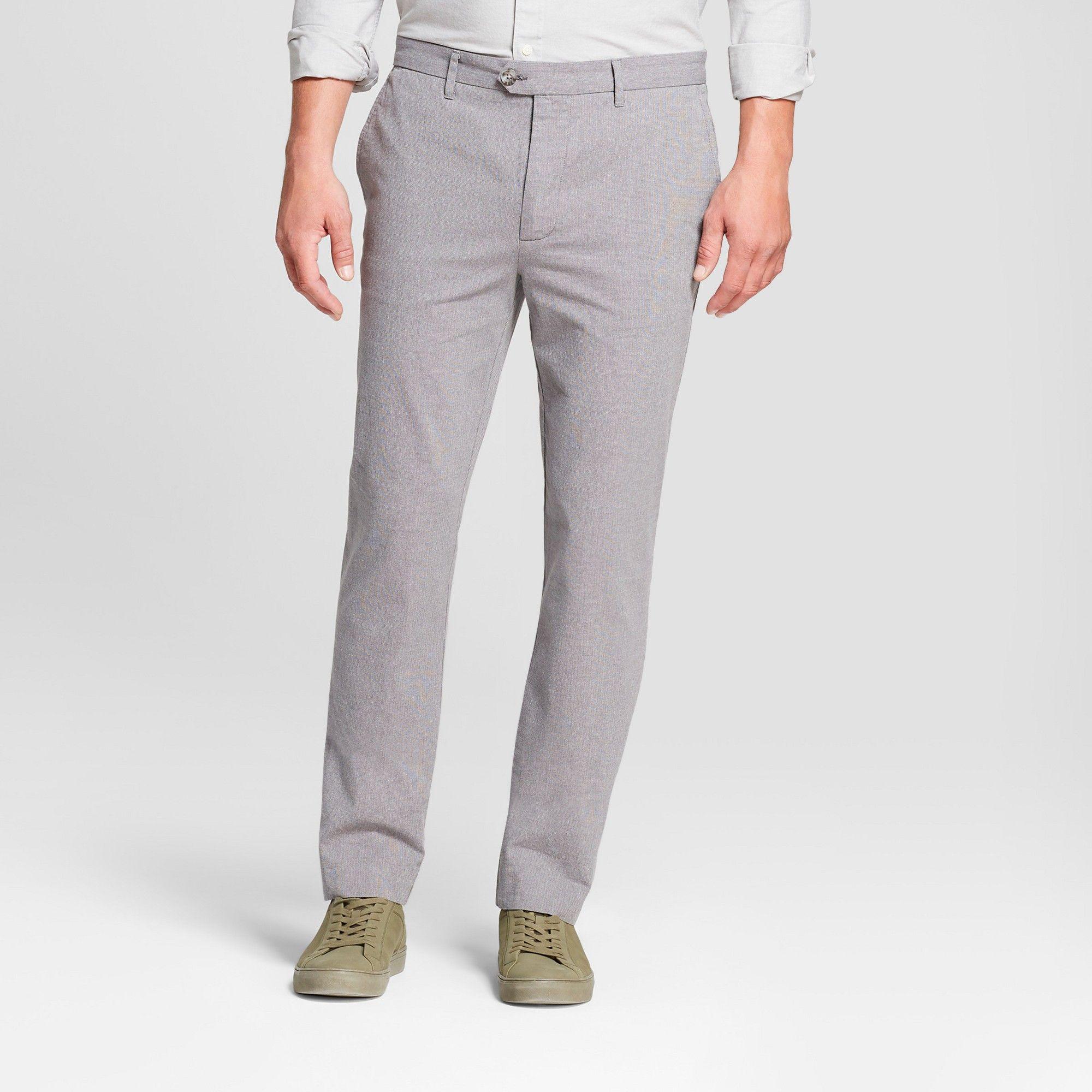 f977ee19 Men's Printed Straight Fit Lightweight Trouser - Goodfellow & Co Gray  Herringbone 36x32