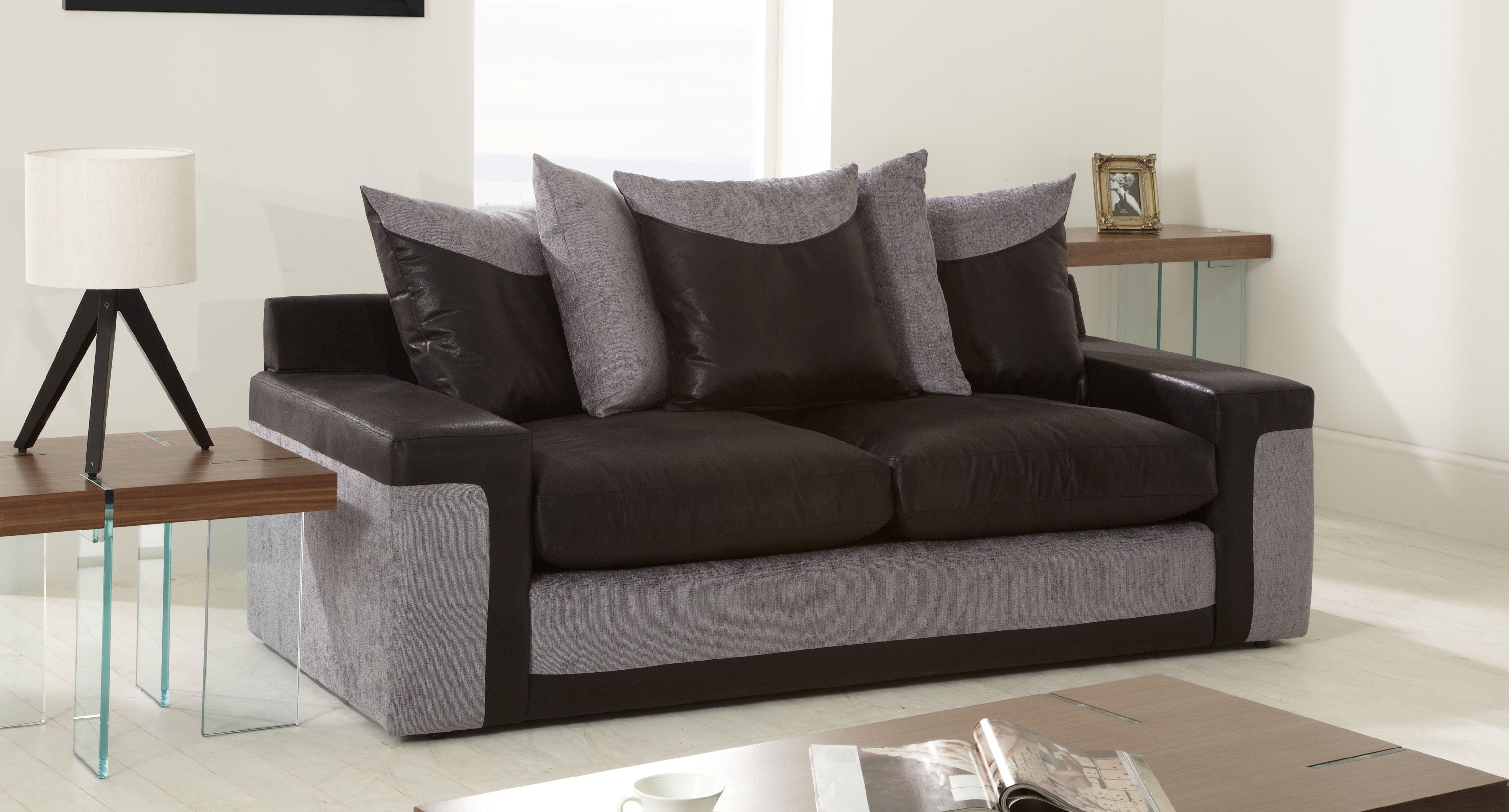 Tufted Sofa Link Seater Sofa Scatter Back sofa leather black