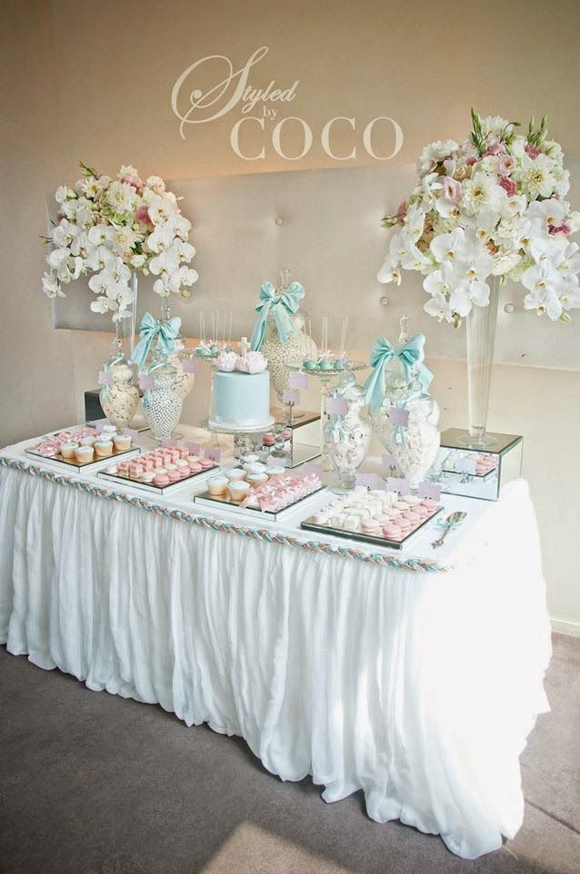 Pin By Celebrating Together Party B On Bautizo Mirian Ivonne Christening Decorations Baby Shower Table Decorations Baby Shower Table