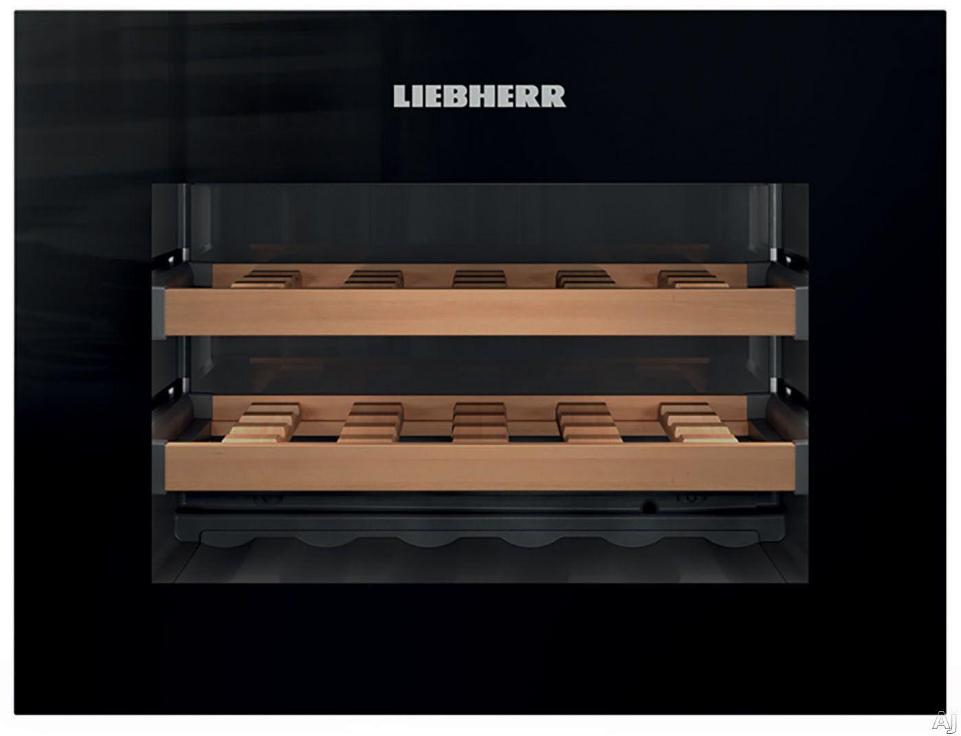 Liebherr Hwg1803 24 Inch Built In Wine Cooler With Push To Open Drop Down Door Single Zone Coolin Built In Wine Cooler Wine Shelves Built In Wine Refrigerator
