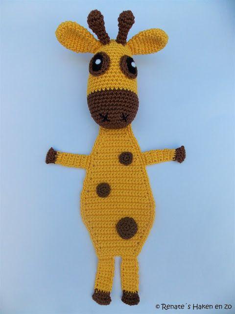 Patroon Boekenlegger Giraffe Renates Haken En Zo Beginning