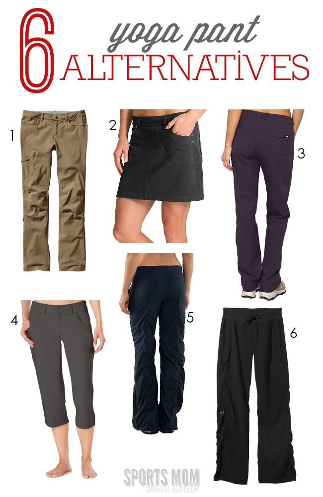 8a55209880765 6 alternatives to yoga pants.Guilty. Yep, I wear them ALL the time. Yoga  Pants. I STILL want to be comfortable!!