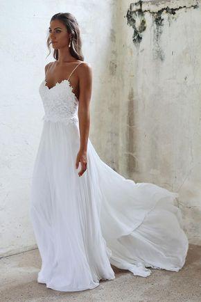 Vestido de noiva simples para praia