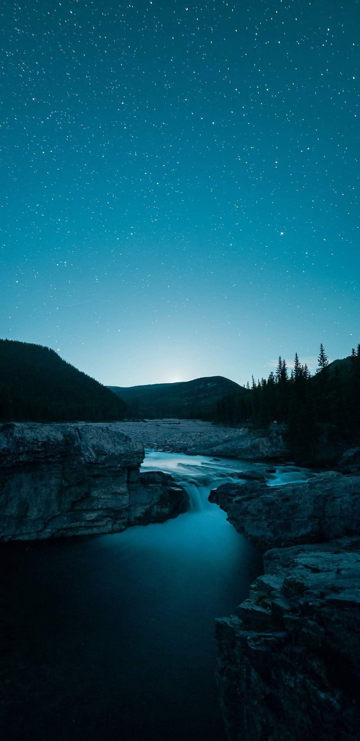 Night Sky Mobile Wallpaper In 2020 Nature Wallpaper Background Night Skies