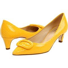 Thinking of yellow heels to spice up a blue dress and a black dress I bought for winter holiday parties.  Of course the one's I like are $298....