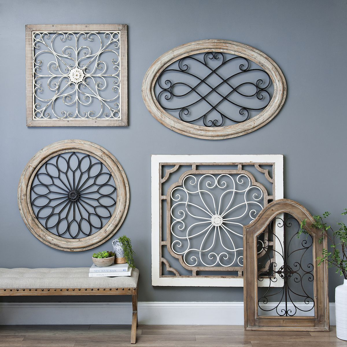 Wood And Metal Wall Plaque Natural Arch Wood And Metal Wall Plaque  Walls Metal Walls And House
