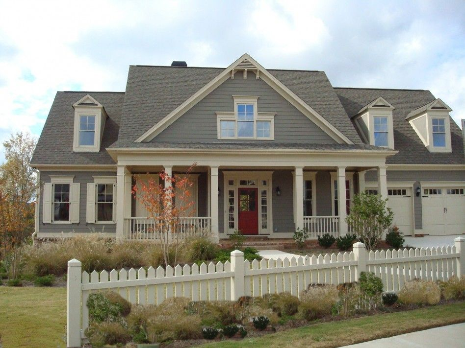 Exterior What To Look For On Classic House Exterior Design: Happy Large  Family Classic House Exterior Design With Gray Color Lumber Attic Wall And  Roof Mix ...