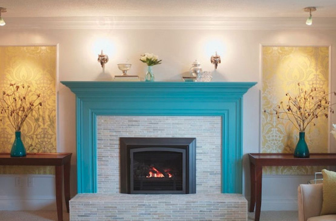 Room Painting Brick Fireplace Color Ideas