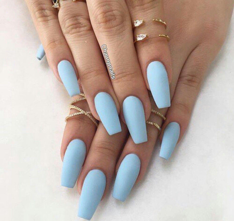 Pinterest Tashaabeale Blue Acrylic Nails Coffin Shape Nails Best Acrylic Nails