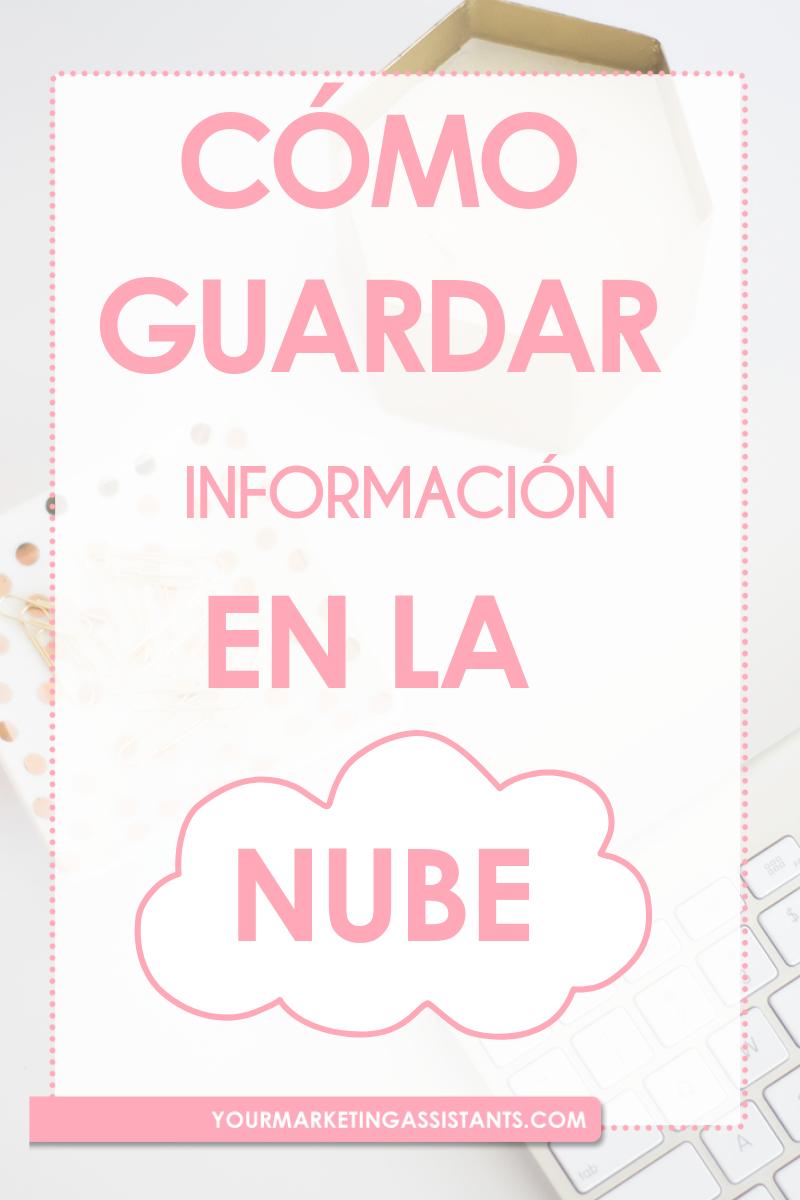 yourmarketingassistants  Cómo Guardar Información en la Nube con Google Docs Cómo organizar toda la información de tu Negocio y todo lo que co...