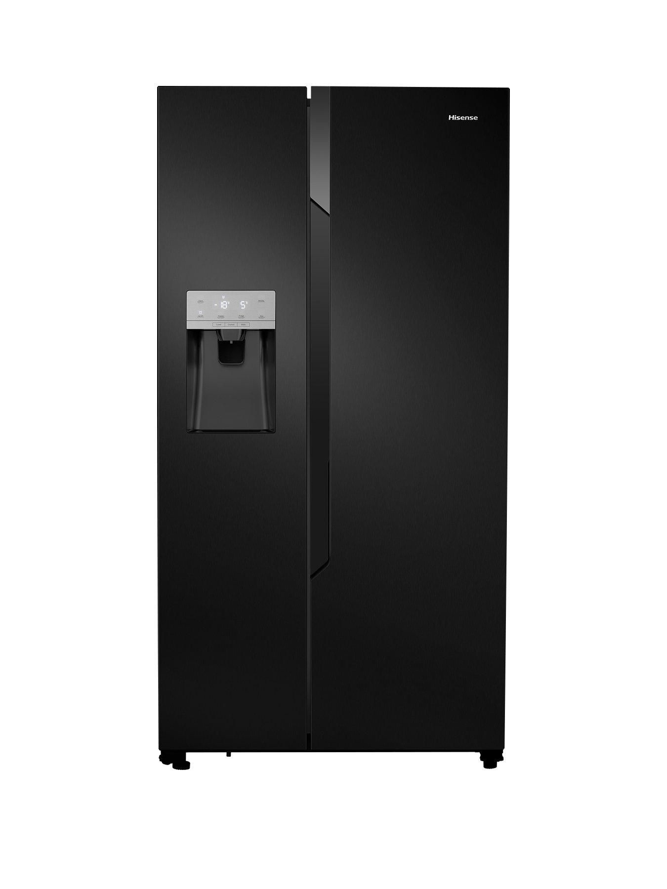 Rs694n4tb1 Total No Frost American Style Fridge Freezer With Water Ice Dispenser Black American Fridge Freezers American Fridge American Style Fridge Freezer