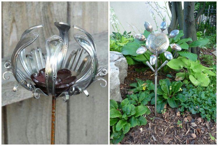 Gartenstecker Selber Machen Tolle Hingucker Im Beet Gartenstecker Gartenumgestaltung Garten