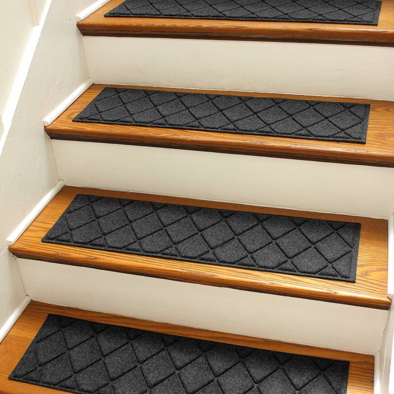 Beaupre Charcoal Argyle Stair Tread In 2020 Stair Treads