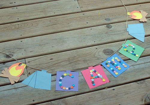 Camp Banner Summer Crafts And Lessons For Kids KinderArt R