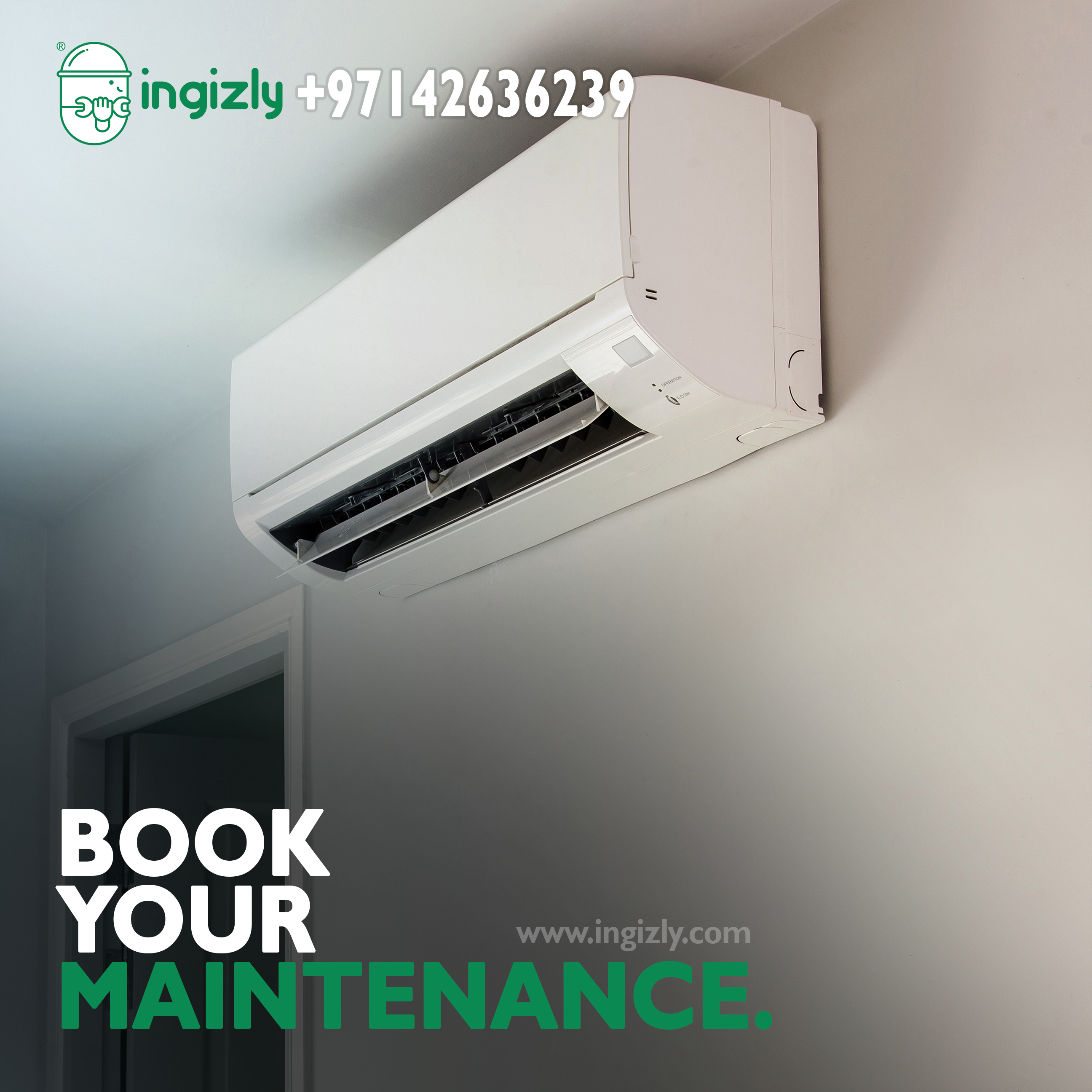 One stop service market. Air conditioning repair service