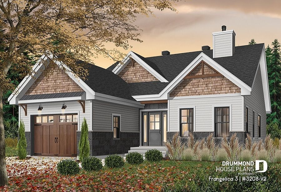 Discover the plan 3208 V2 Frangelica 3 which will please you for its 2 bedrooms and for its Craftsman Northwest styles