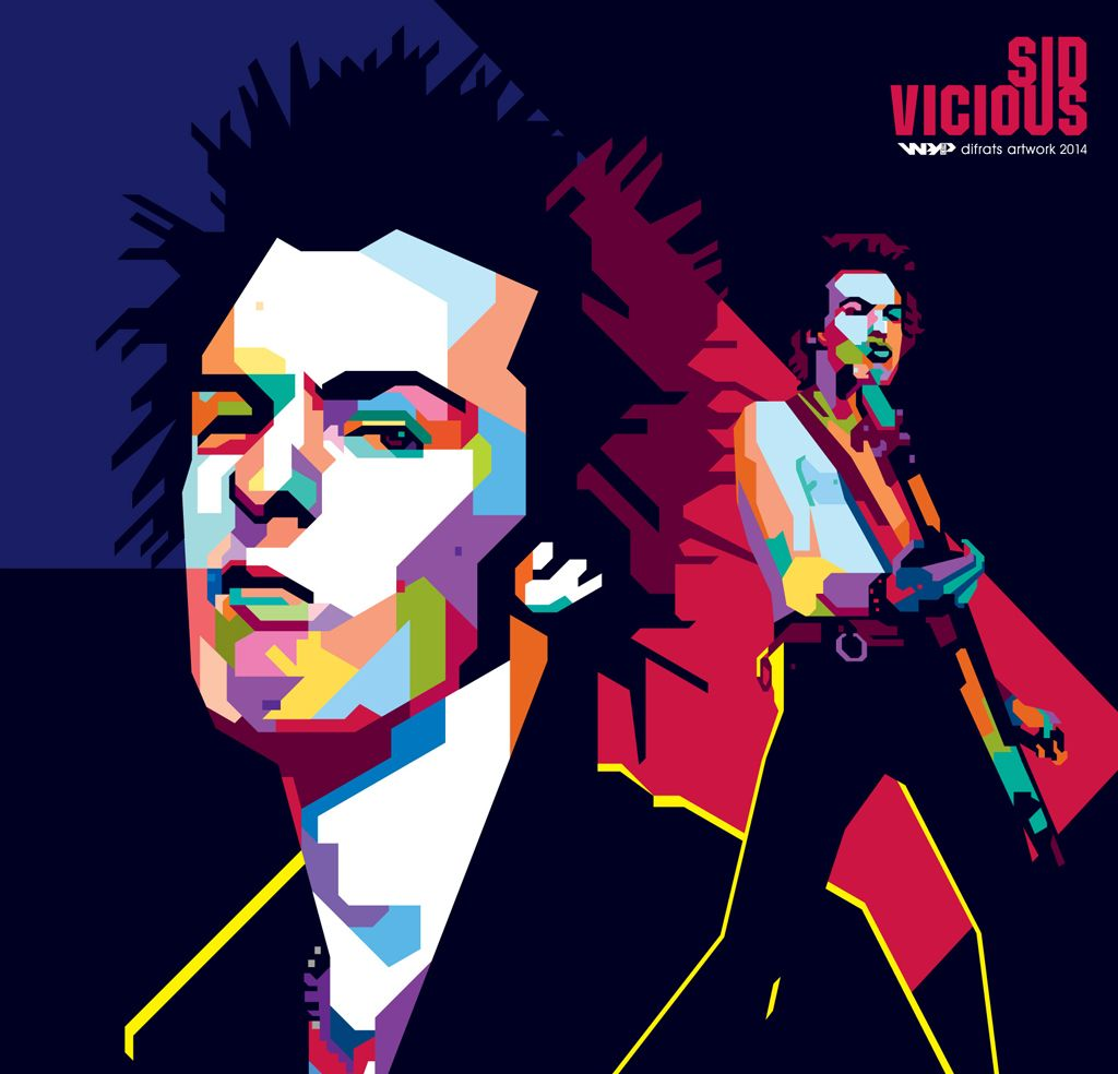 Sid Vicious wpap by difrats #art #vector #tracing #sidvicious #sexpistols #wpap #popart